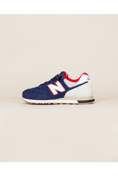 New Balance 574 SKB - Navy/ Energy Red