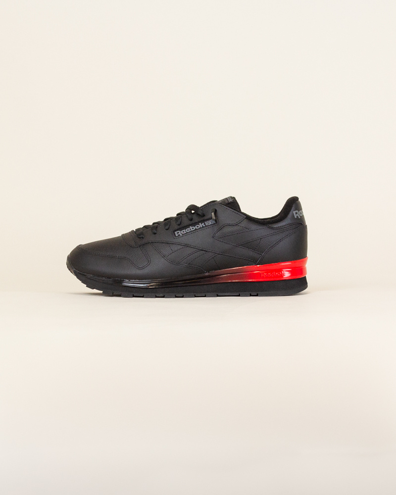 Reebok Classic Leather - Black/Red-1