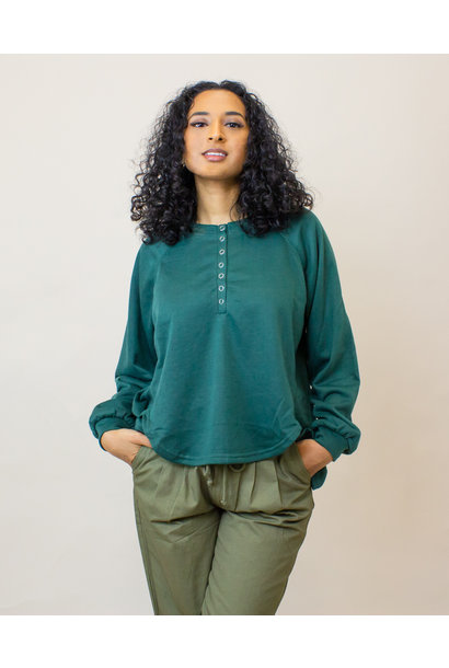 Hyfve Oversized L/S Shirt - Hunter Green