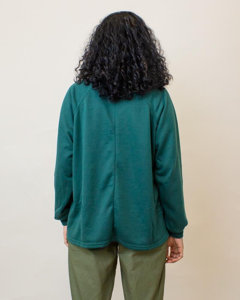 Hyfve Oversized L/S Shirt - Hunter Green-2