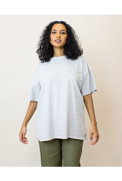 Double Zero Oversized Tee - Cloud