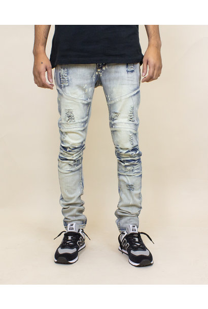 Blind Trust Skinny Twill Pants - Antique Bleach