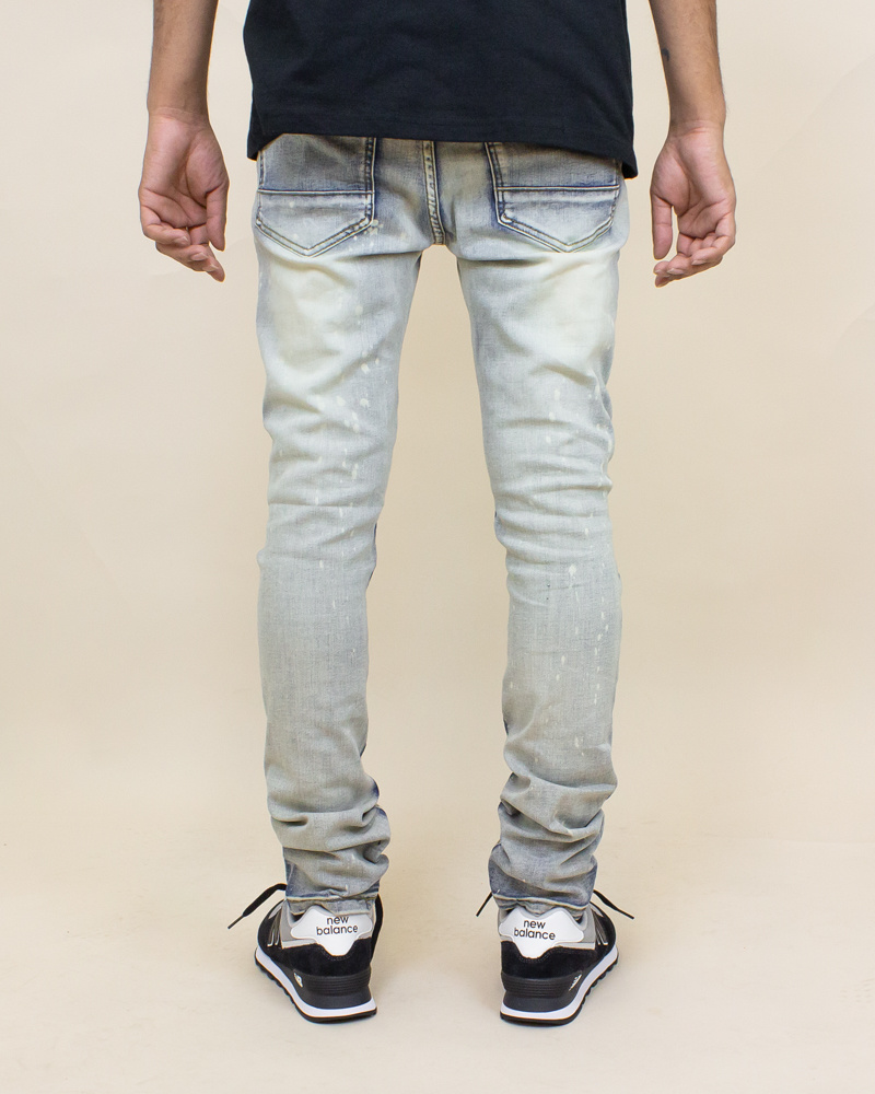 Blind Trust Skinny Twill Pants - Antique Bleach-4