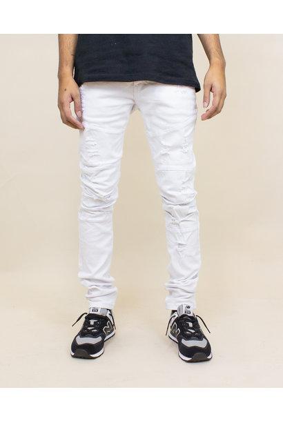 Blind Trust Skinny Twill Pants - White
