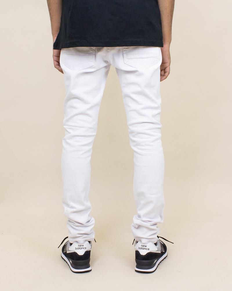 Blind Trust Skinny Twill Pants - White-4