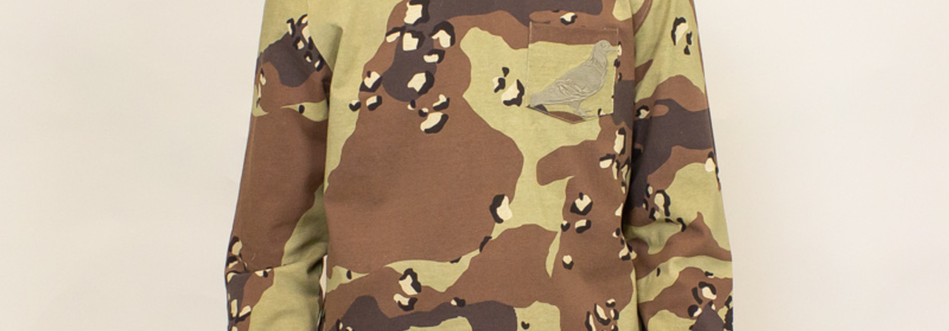 Staple Pigeon Garment Wash L/S Pocket Tee - Camo