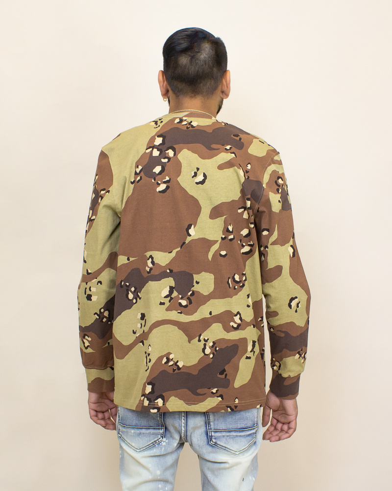 Staple Pigeon Garment Wash L/S Pocket Tee - Camo-2
