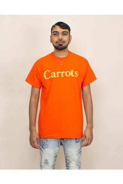 Carrots Blurred Wordmark Tee - Orange