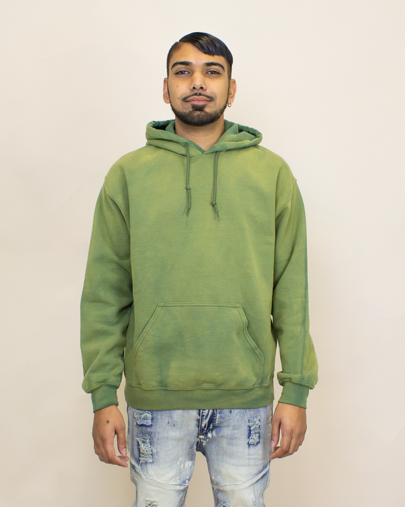 EPTM Power Washed Hoodie - Olive-1