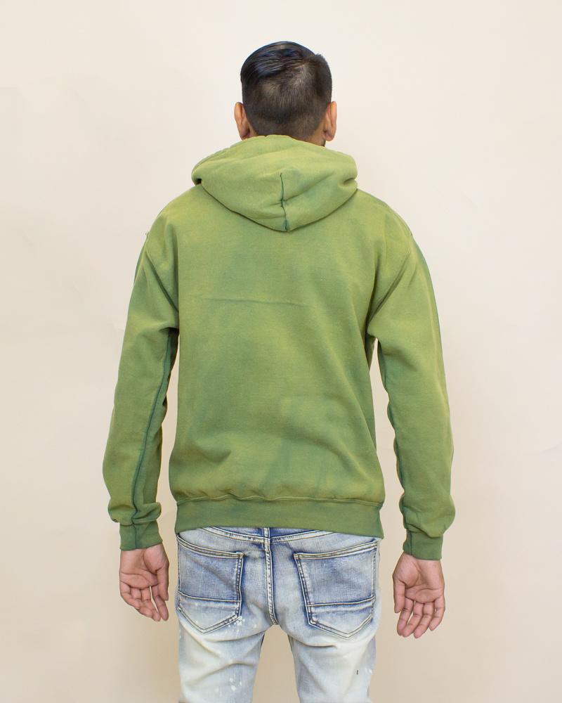 EPTM Power Washed Hoodie - Olive-2