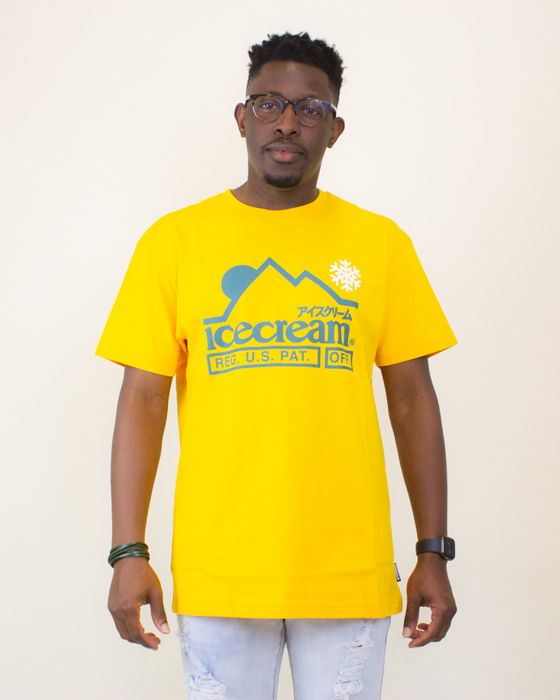 Icecream At The Top SS Tee - Spectra Yellow-1