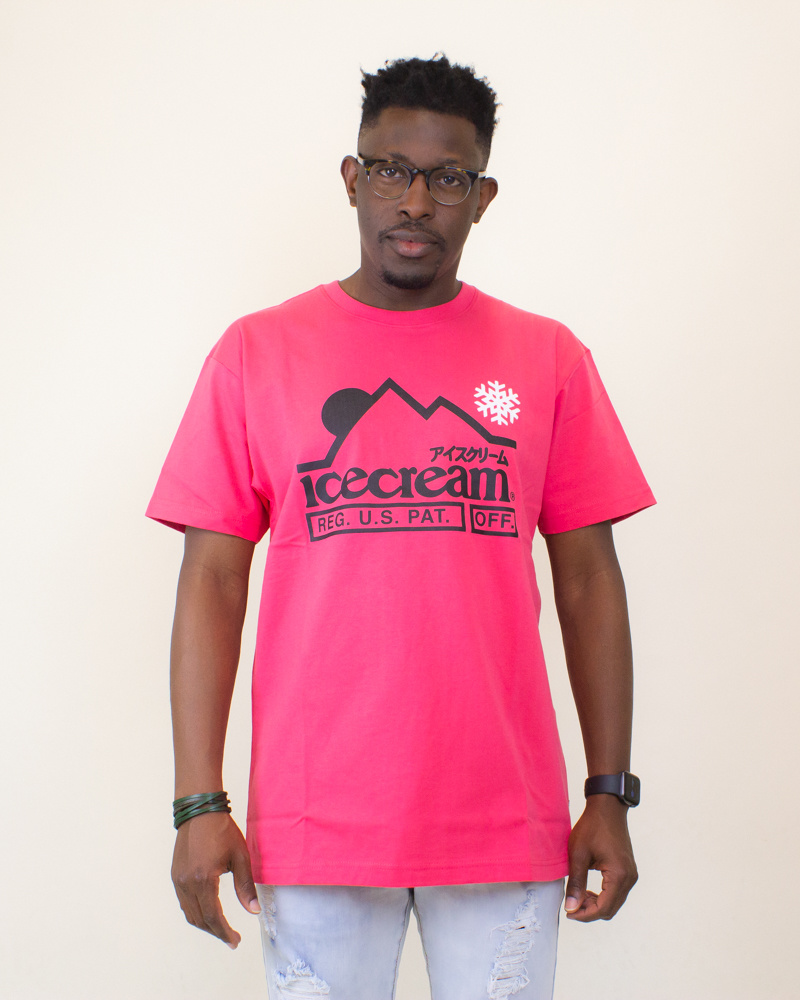 Icecream At The Top SS Tee - Claret Red-1