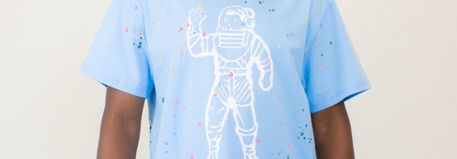 Billionaire Boys Club Astro Spattered Tee - Sky Blue