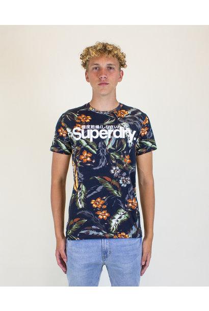 Superdry Super 5's Tee - Indo Leaf