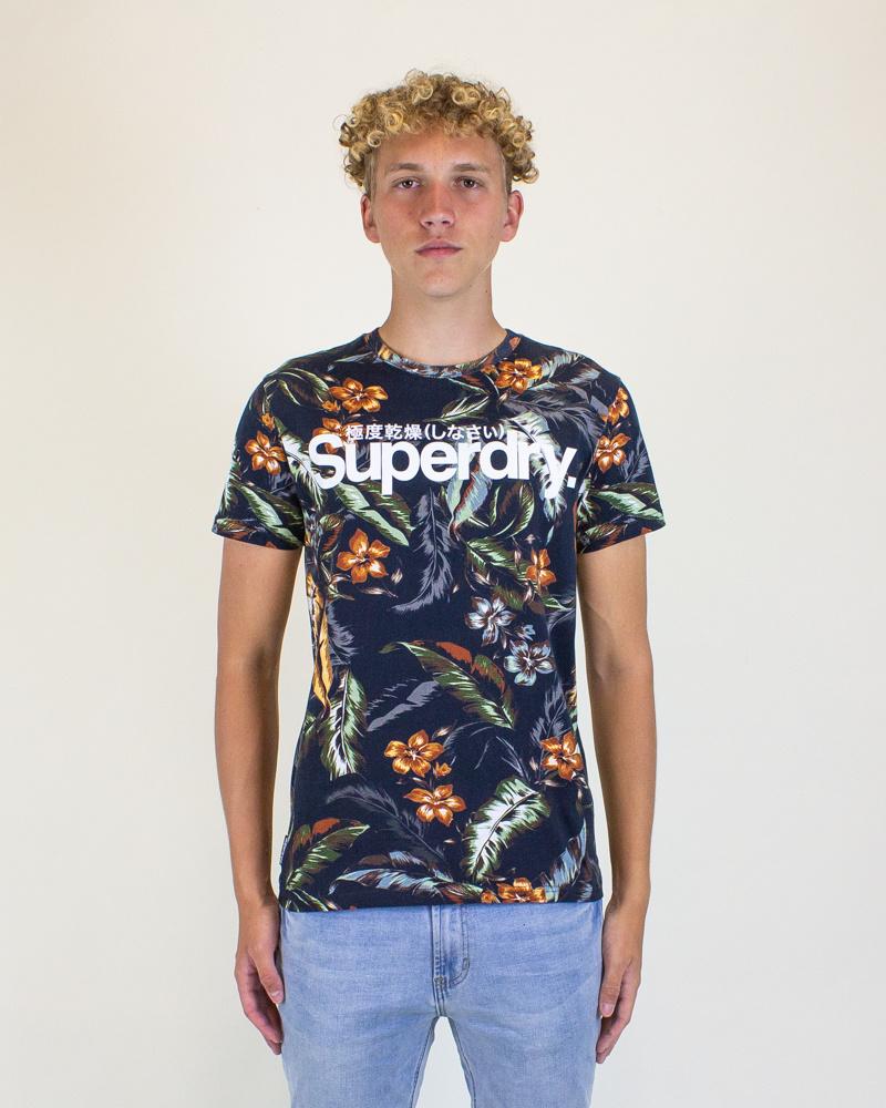 Superdry Super 5's Tee - Indo Leaf-1
