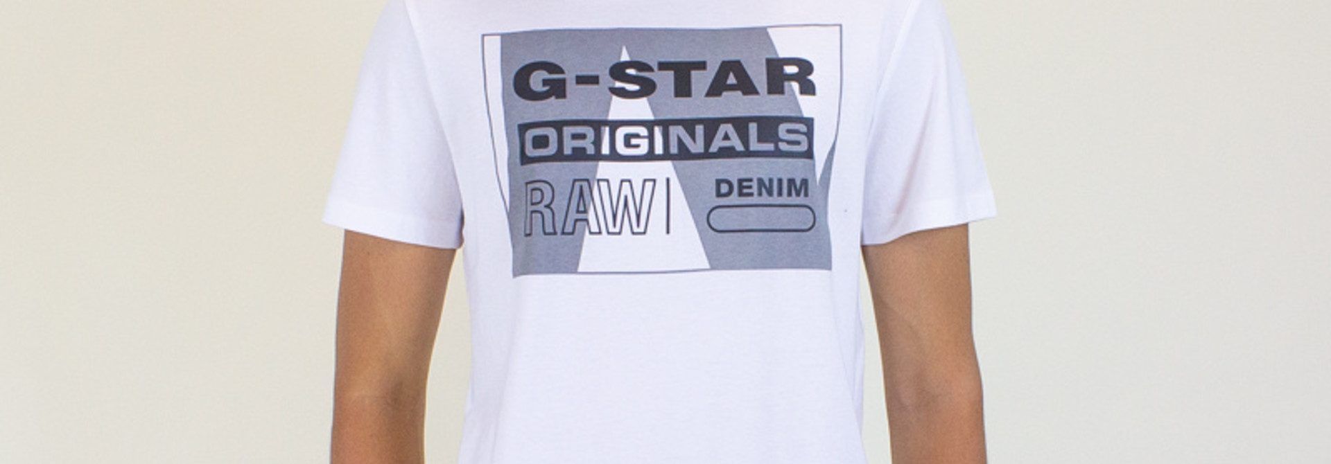 G-Star Raw Layer Originals Logo SS Tee - White