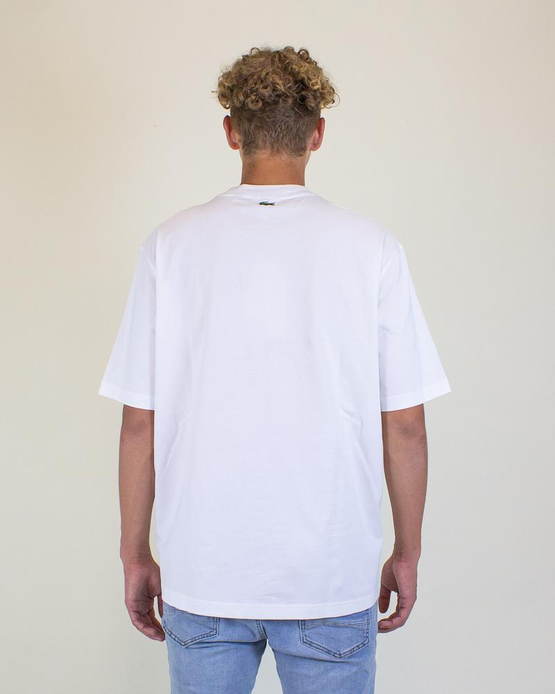 Lacoste X Live Polaroid Loose Fit Cotton T-Shirt - White-2