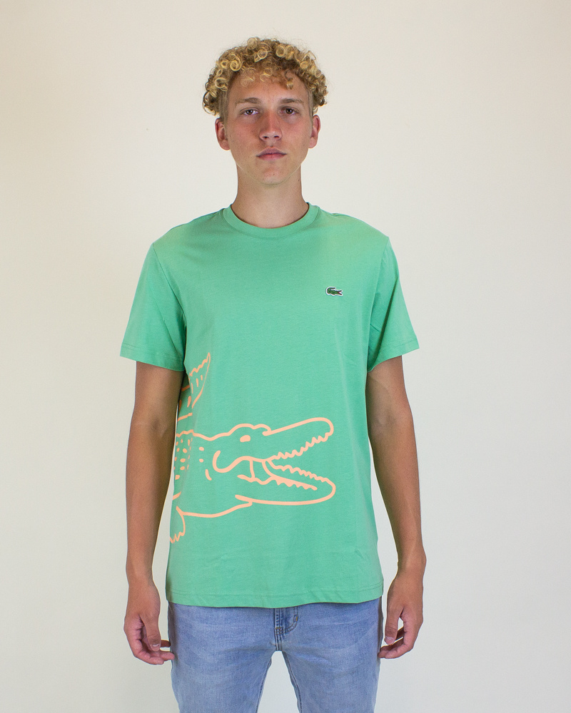 Lacoste Crocodile Print T-Shirt - Liamone-1