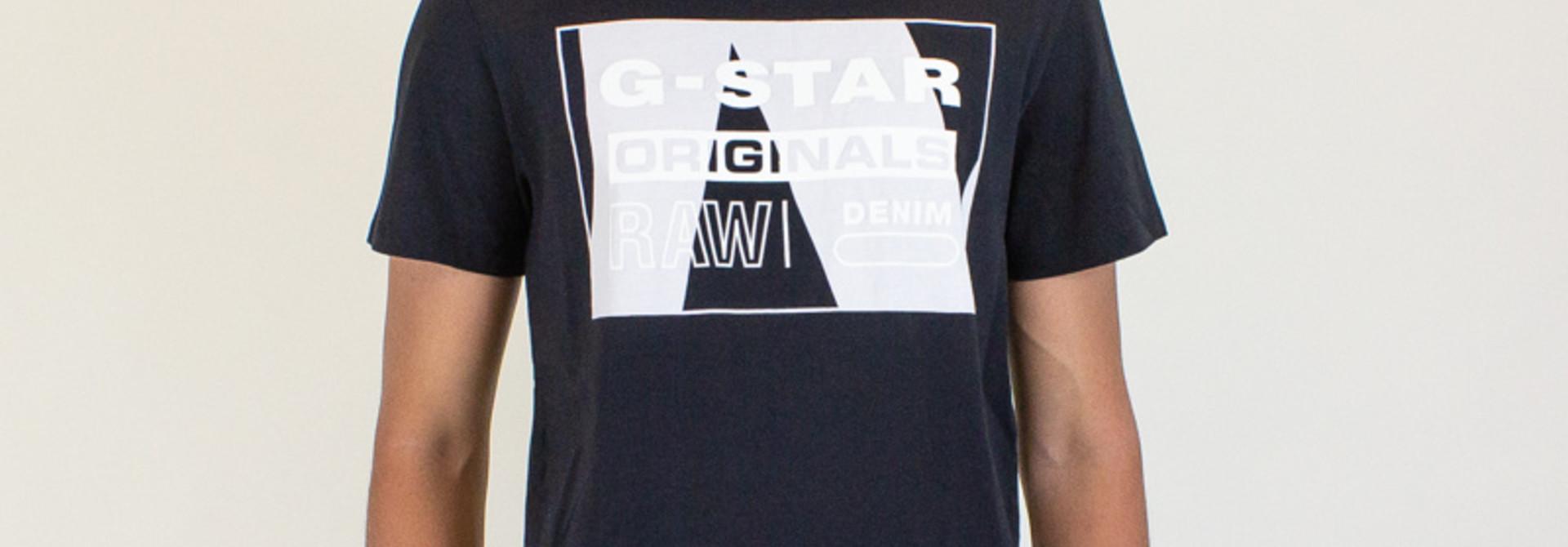G-Star Raw Layer Originals Logo SS Tee - Black