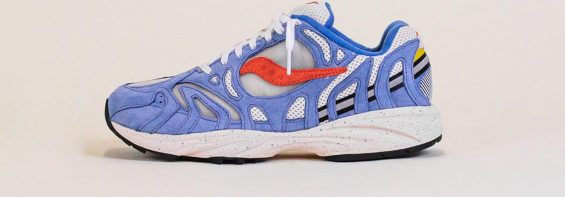 Saucony Grid Azura 2000 - Blue/Orange