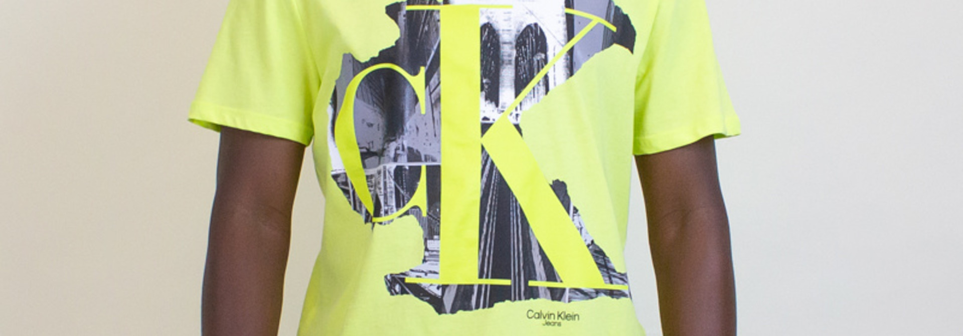 Calvin Klein Cityscape Crewneck Tee - Direct Green