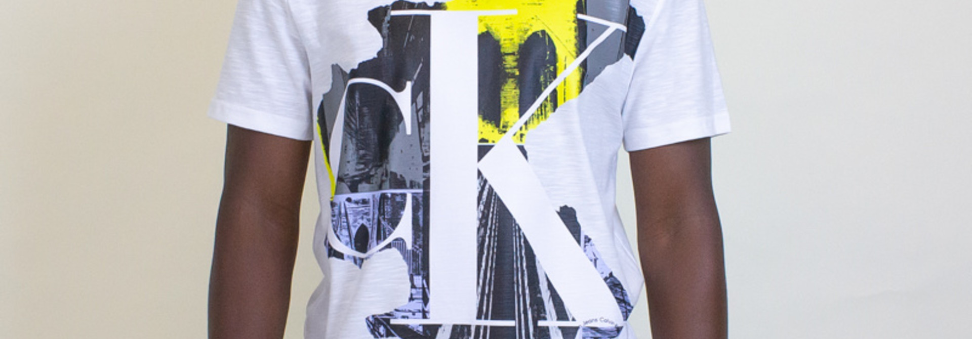 Calvin Klein Cityscape Crewneck Tee - White