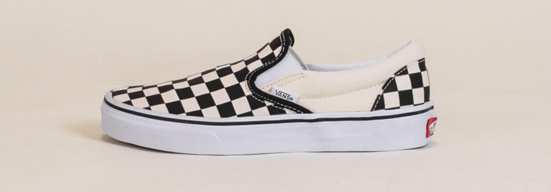 Vans Checkerboard Slip-On - Black/White