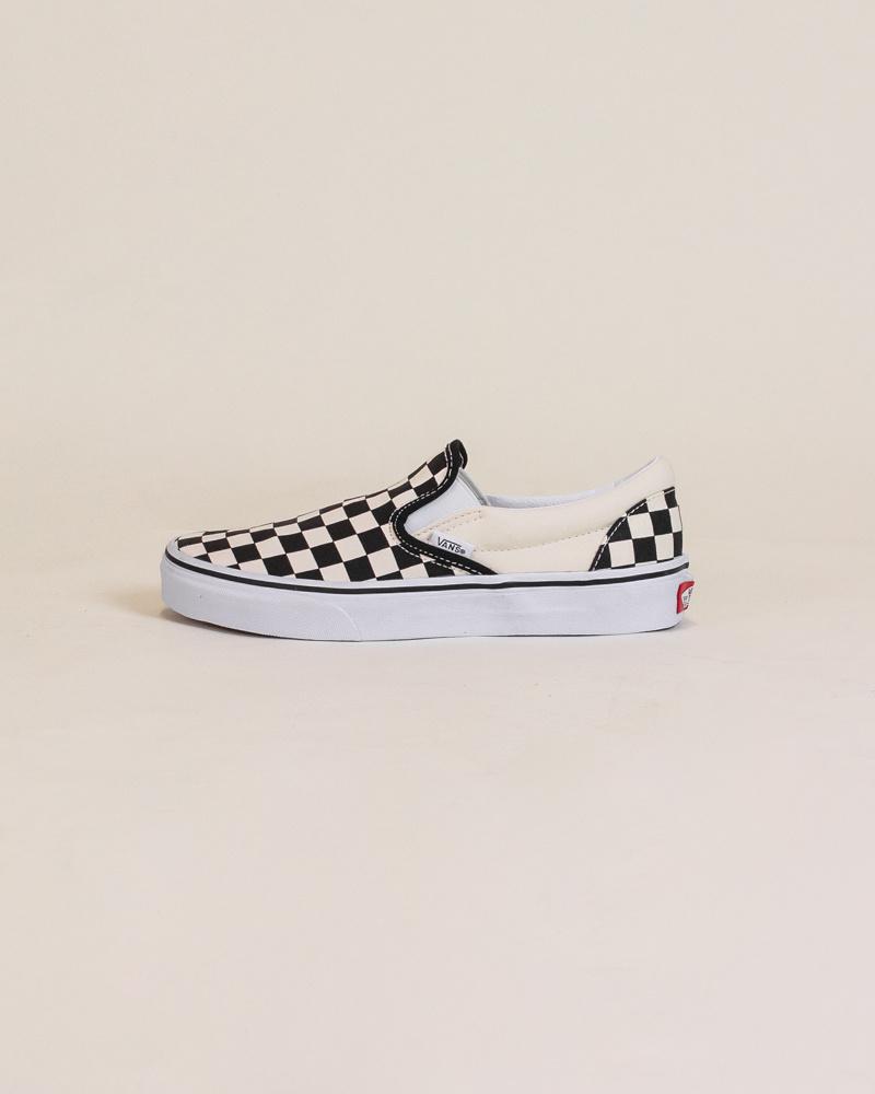 Vans Checkerboard Slip-On - Black/White-1