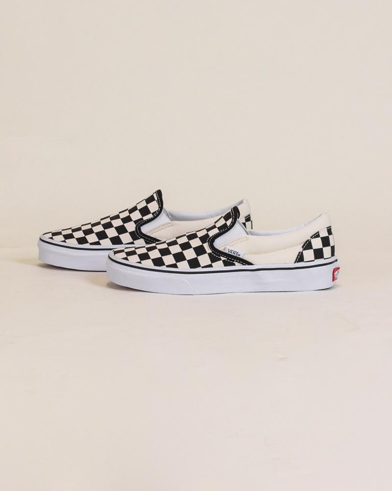 Vans Checkerboard Slip-On - Black/White-2