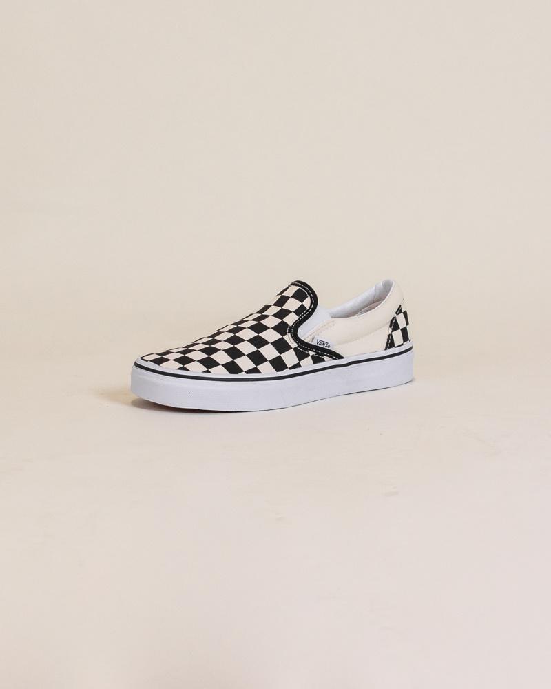 Vans Checkerboard Slip-On - Black/White-3