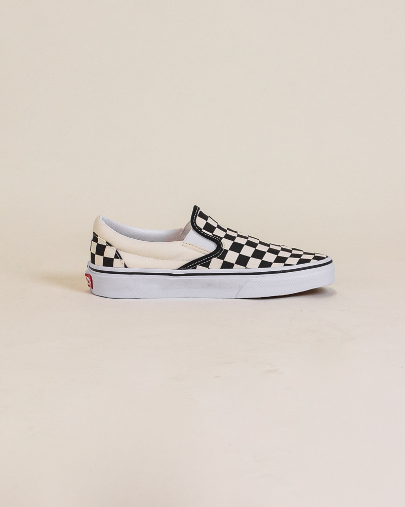 Vans Checkerboard Slip-On - Black/White-4