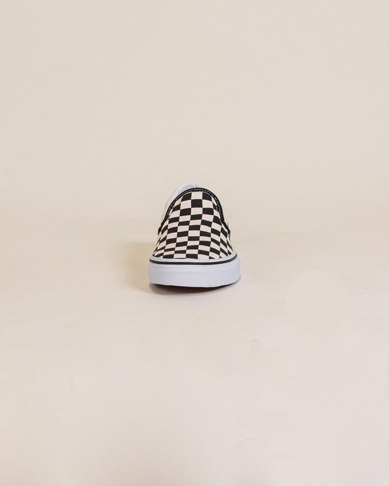 Vans Checkerboard Slip-On - Black/White-5
