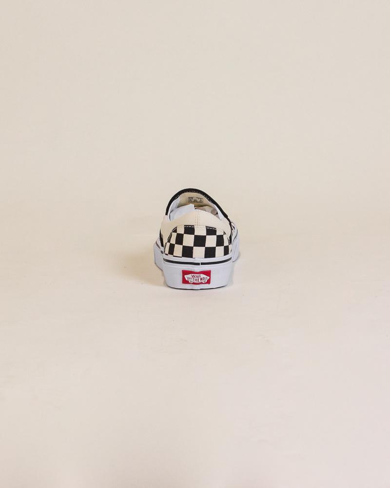 Vans Checkerboard Slip-On - Black/White-6