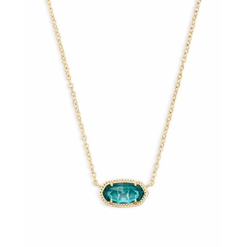 Kendra Scott Elisa Gold Pendant Necklace In London Blue