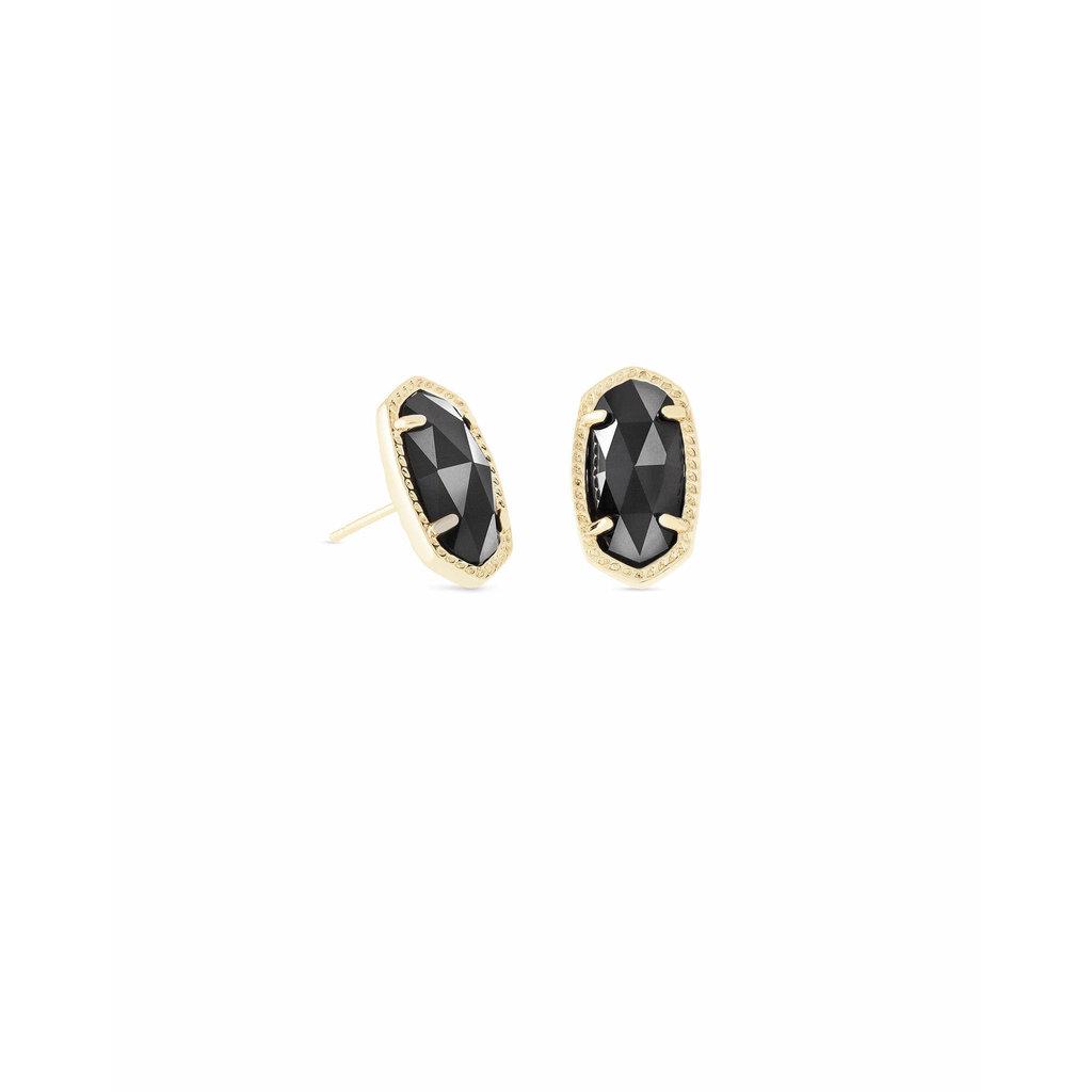 Kendra Scott Ellie Gold Stud Earrings In Black