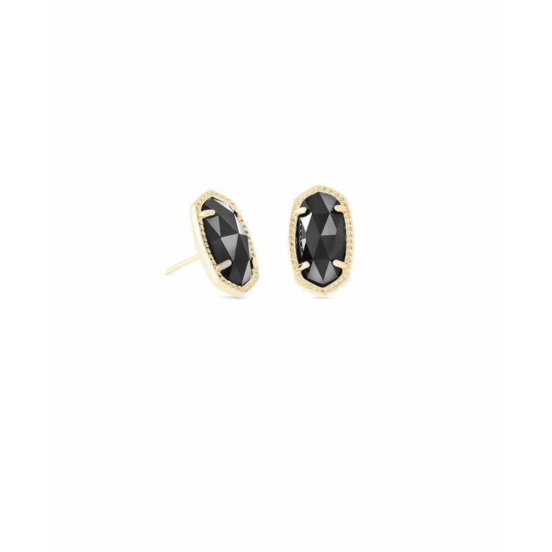 Kendra Scott Ellie Gold Stud Earrings In Black