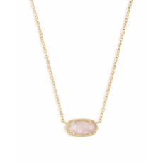 Kendra Scott Elisa Pendant Necklace In Rose Quartz*