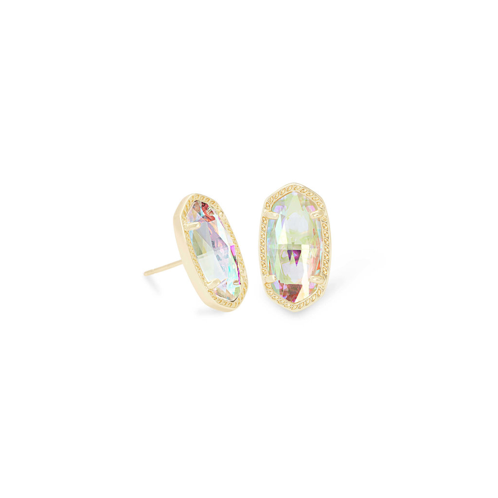 Kendra Scott Ellie Gold Stud Earrings In Dichroic Glass