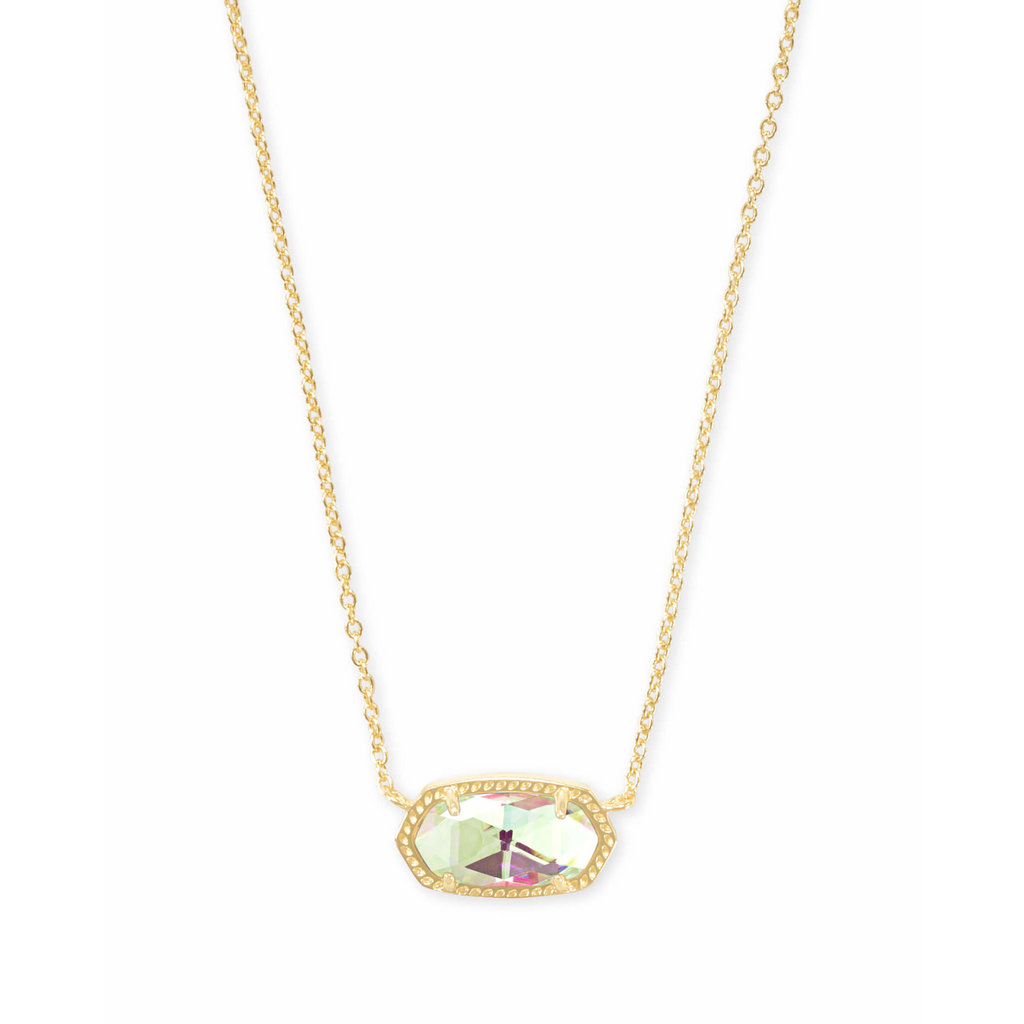 Kendra Scott Elisa Gold Pendant Necklace In Dichroic Glass*