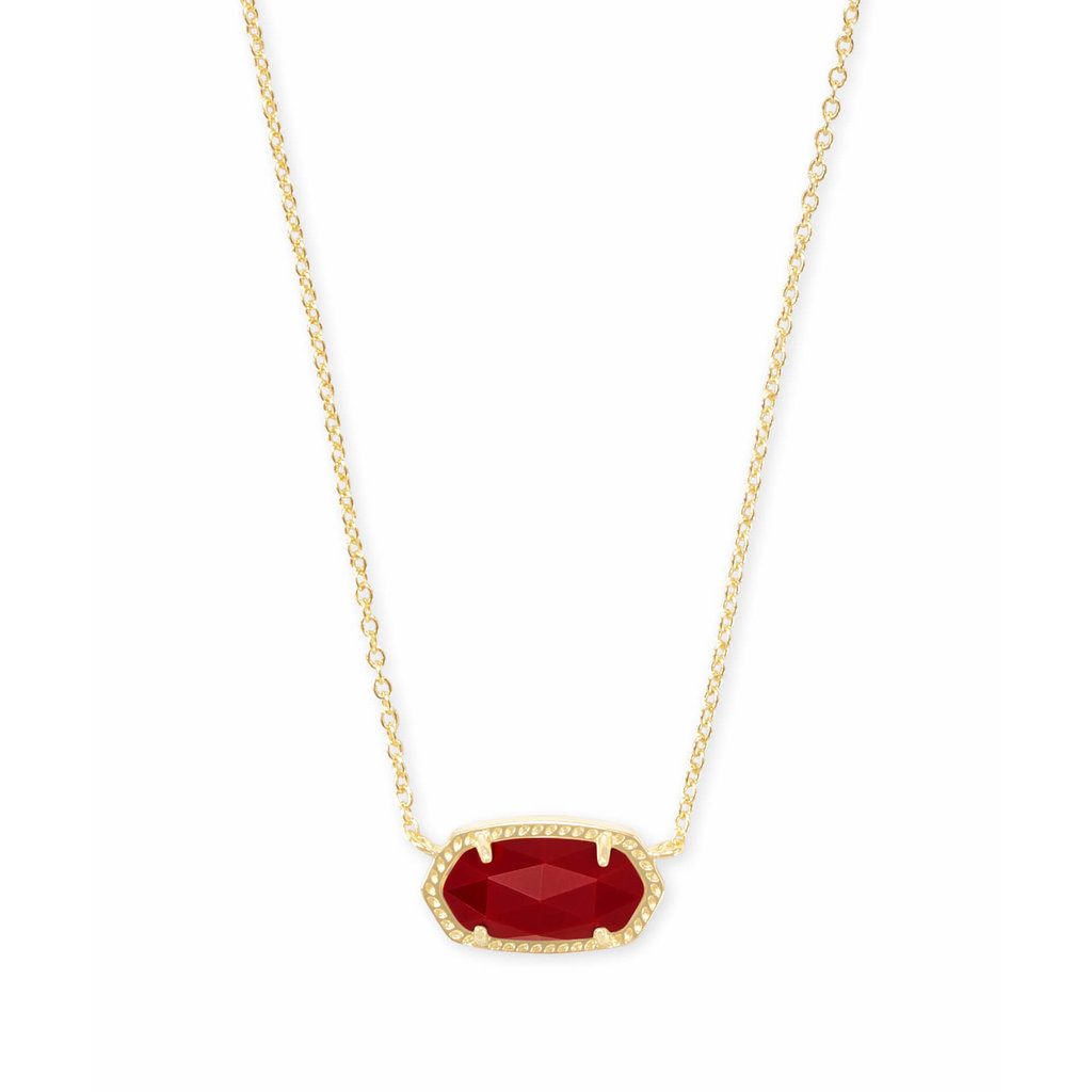 Kendra Scott Elisa Pendant Necklace In Dark Red