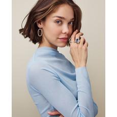 Kendra Scott Elle Open Frame Crystal Drop Earrings In Rose Gold