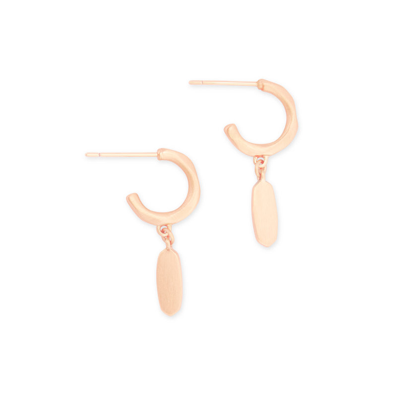 Kendra Scott Fern Huggies In Rose Gold