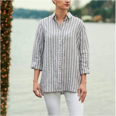 Bee Boutique Cameron Linen Shirt