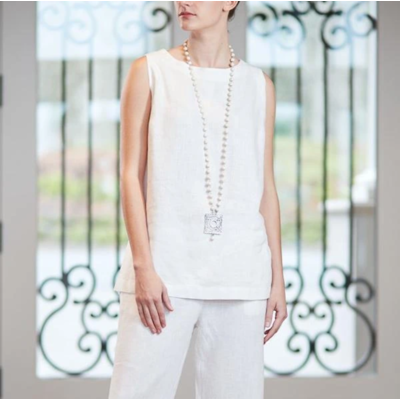 Bee Boutique Dana Linen Tank