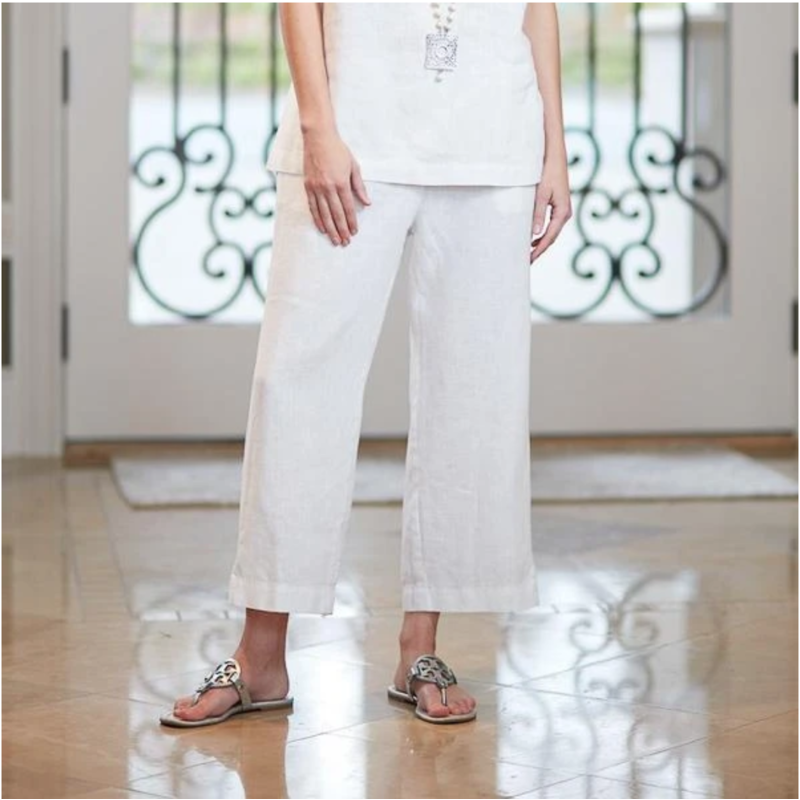 Bee Boutique Classic Linen Capri