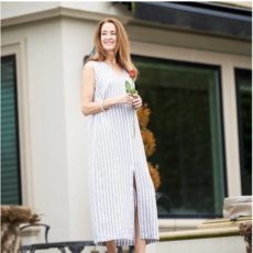 Bee Boutique Olivia Linen Dress