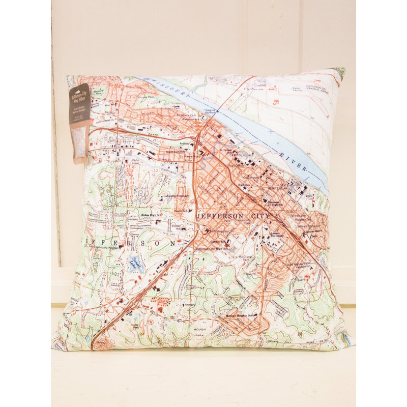 Southbank's Jefferson City Map Pillow