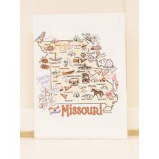 Missouri Map Greeting Card