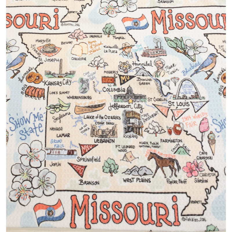 Southbank's Missouri Map Towel