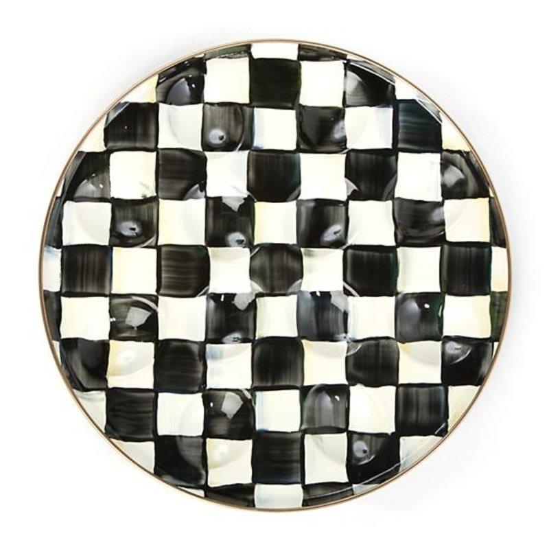 MacKenzie-Childs Courtly Check Enamel Egg Plate